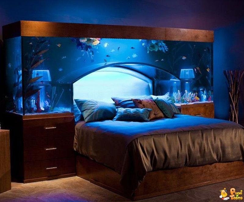 Il letto sotto l'acquario
