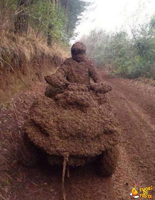 Il percorso era fangoso