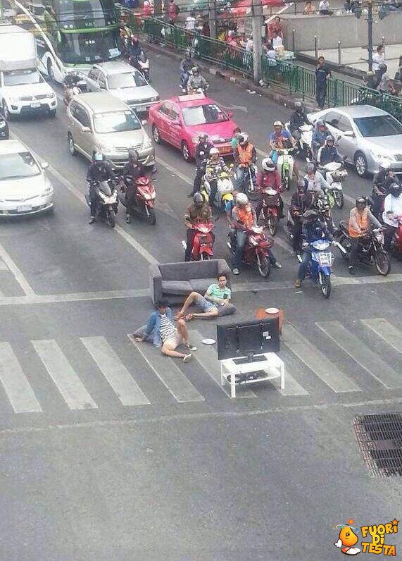 Intralciare il traffico