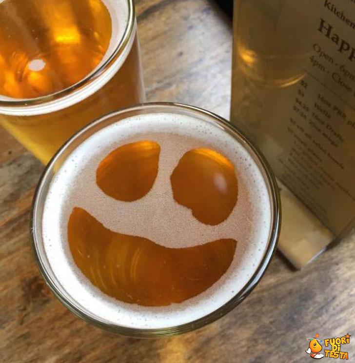 La birra mi sorride