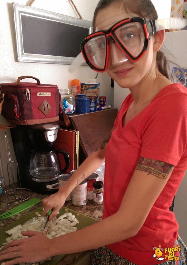 La maschera per cipolle