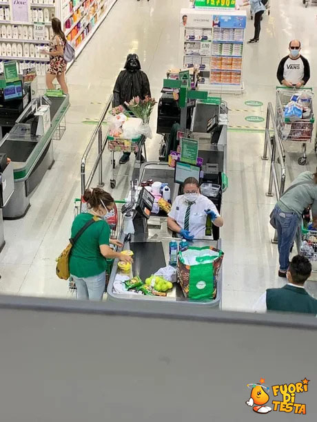 Maschere e supermercati