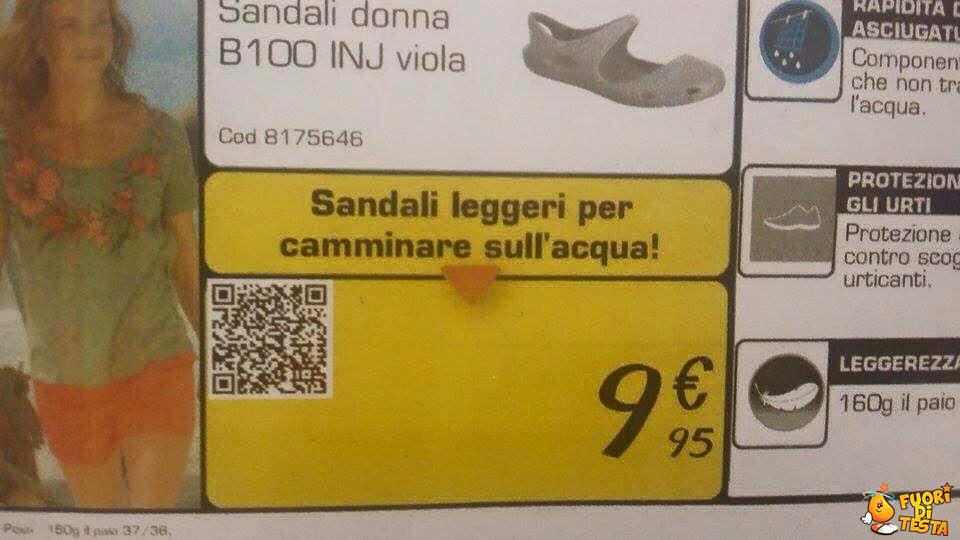 Nuovi sandali, Gesù edition