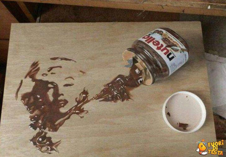 Opera d'arte con la Nutella