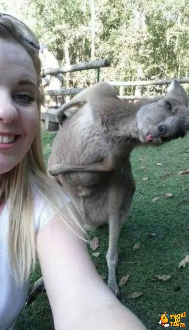 Selfie con linguaccia