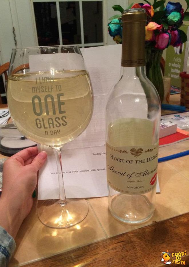 Solo un bicchiere di vino al giorno