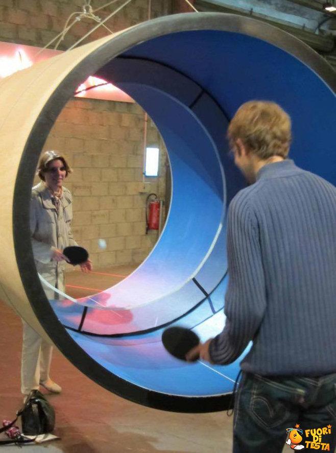 Tavolo da ping-pong cilindrico