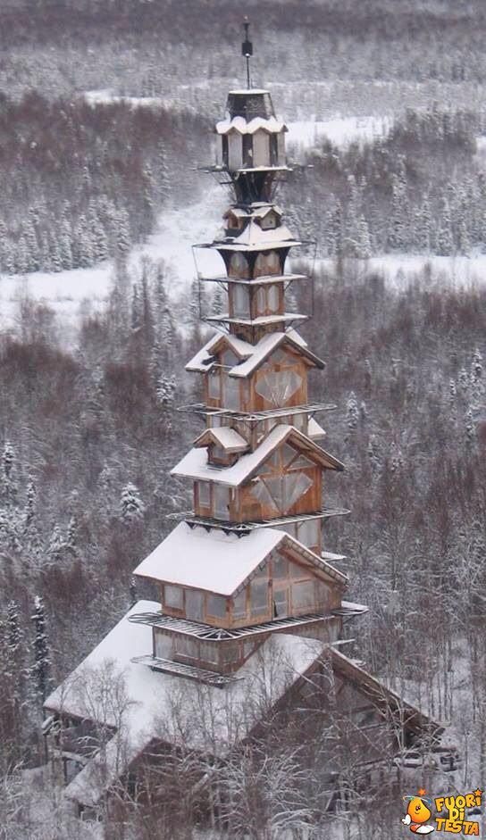 Torre abbandonata in Alaska