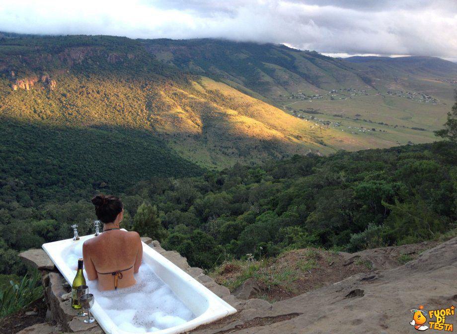 Un bel bagno rilassante