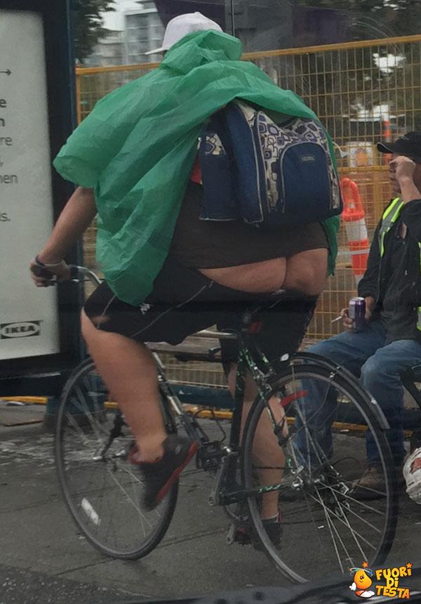 Un ciclista poco elegante