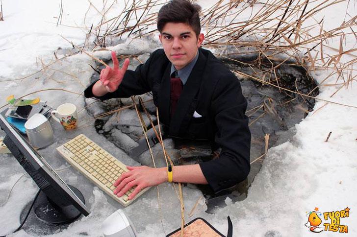 Un vero nerd se ne frega del freddo
