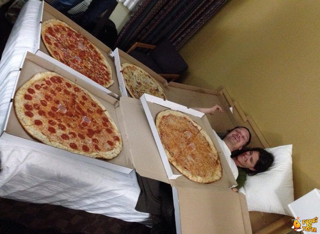 Una coperta di pizze