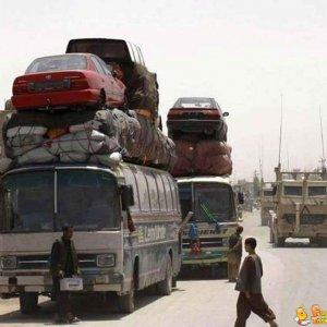 Autobus che trasporta automobili