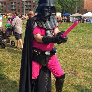 Darth Vader in rosa