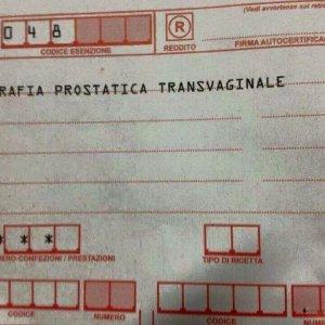 Ecografia prostatica transvaginale