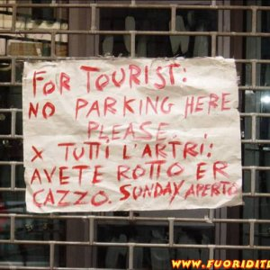 For tourist