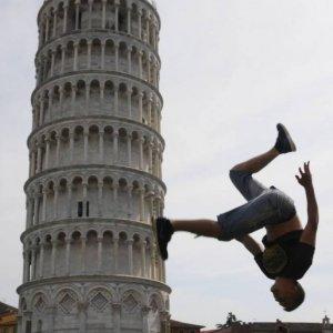 Foto con la Torre di Pisa