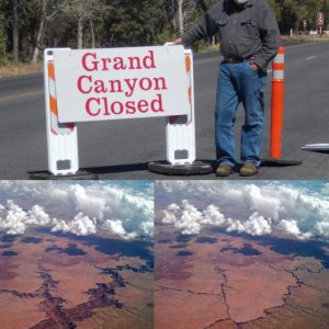 Grand Canyon chiuso
