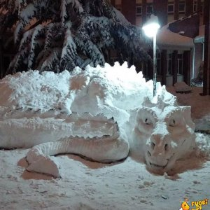 Il dragone di neve