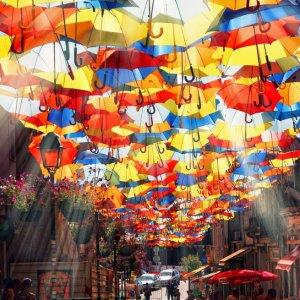 La strada degli ombrelli