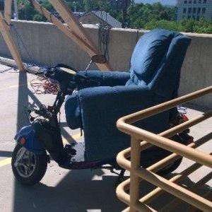 Poltrona sullo scooter