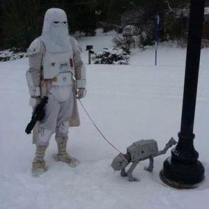 Portare il cane a fare la pipì