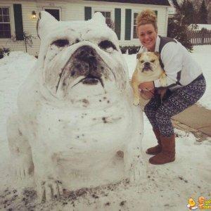 Pupazzo di neve molto somigliante