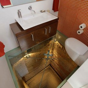 Un bagno da vertigini