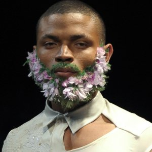 Una barba floreale
