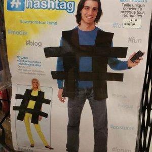 Vestito da hashtag