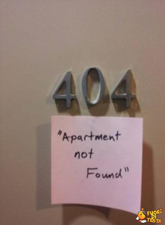 404 stanza non trovata