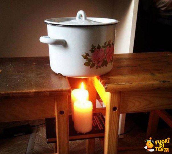 Cuocere con due candele