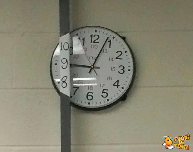 Ho aggiustato l'orologio