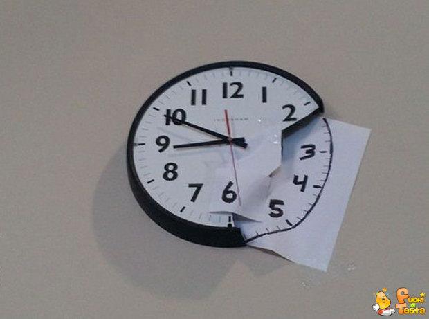 Ho riparato l'orologio