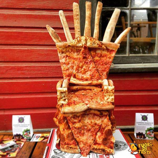 Il trono di pizze