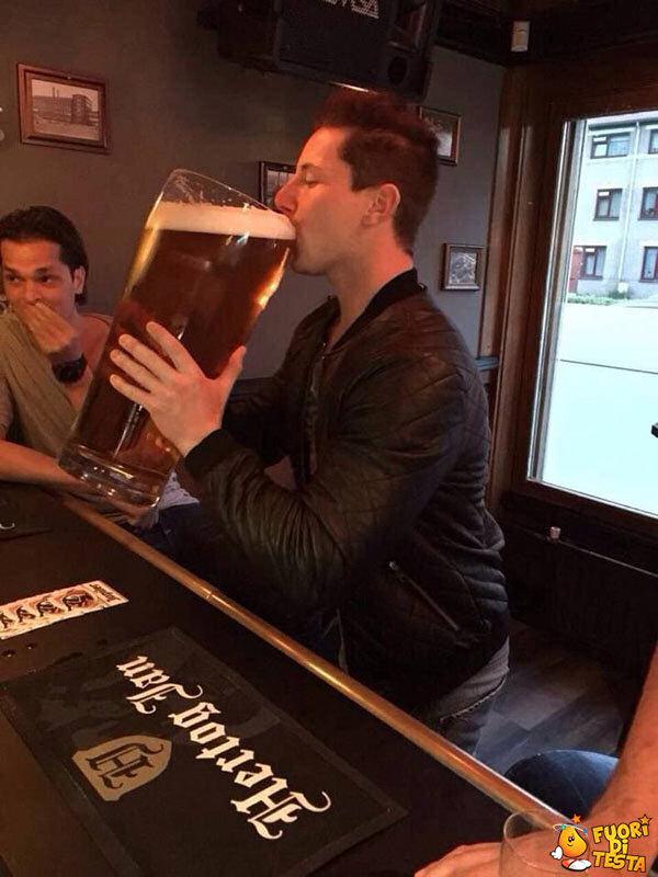 Oggi bevo solo un bicchiere