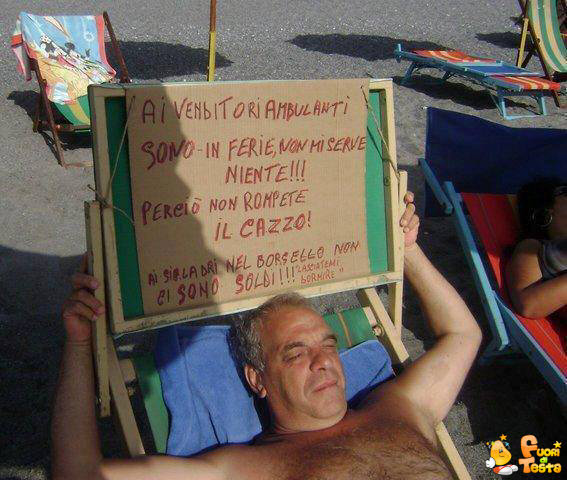 Per i venditori ambulanti...