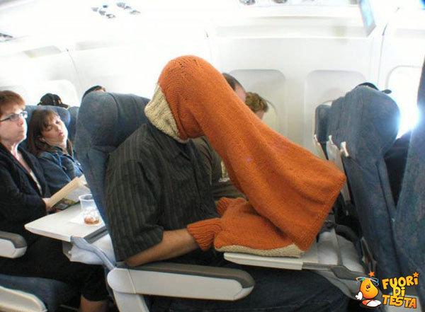 Riposare in aereo