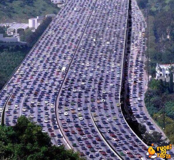 Un po' di traffico a Beijing