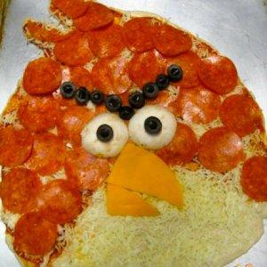 La pizza di Angry Birds