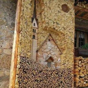 Arte con la legna da ardere
