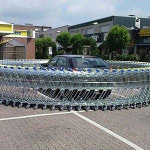 Barriera di carrelli