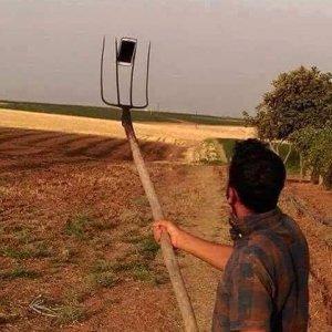 Fare selfie in campagna