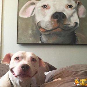 Il quadro e il cane