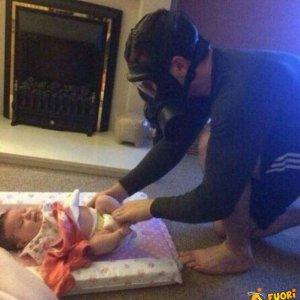 La dura giornata di un padre