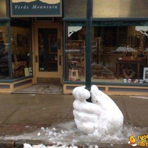 La neve serve anche a questo