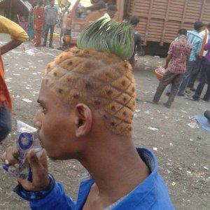 La pettinatura ananas