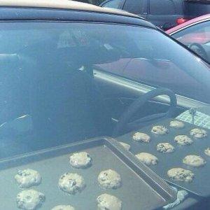 Lascio a cuocere i biscotti