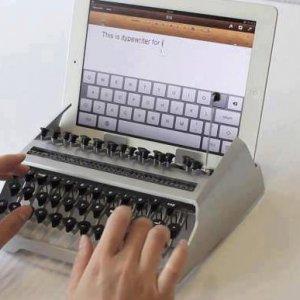 Macchina da scrivere per iPad