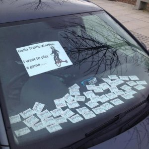 Scherzo al parcheggiatore